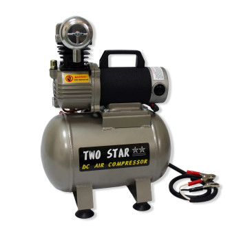 TWO STAR CT-15A-DC12V Portable Micro-oil 12V DC Air Compressor wi