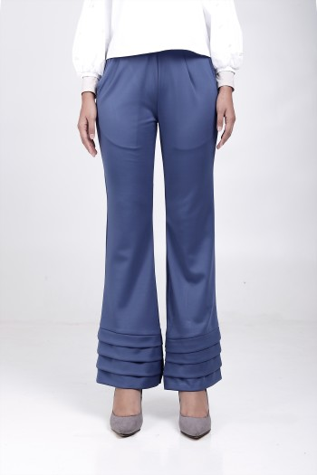 Alma Flared Pants Turkish Blue