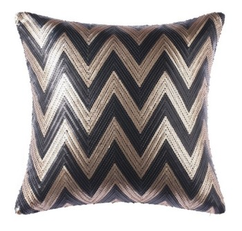 Chevron Sequin Cushion 50x50cm