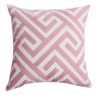 Embroided Cushion 45x45cm - Pink Series