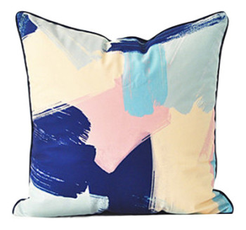 Pastel Brush Stroke Cushion Cover 50x50cm