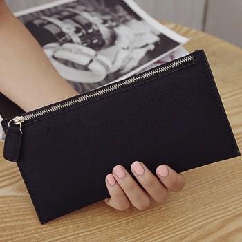 Zipper PU Leather Clutch/Purse