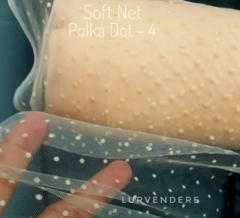 Soft Net Polkadot - Peach (4 )