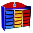Multi-Coloured 15 Trays Manipulatives Storage Unit  - Kidcited Learning Store