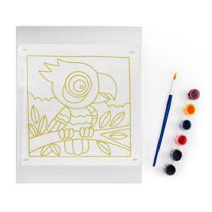Batik Painting Set - Big-eye Parrot  (105)      - Kidcited Learning Store