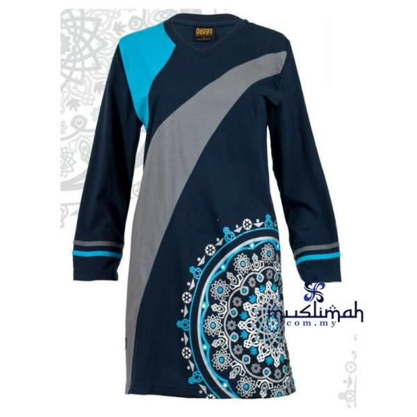 HR07 NAVY BLUE - Muslimah.com.my - Muslimah Online Shopping