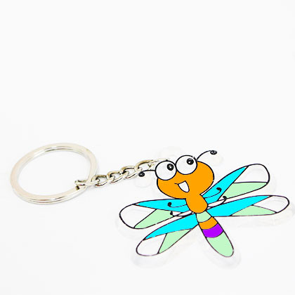 Suncatcher Keychain - Brave Dragonfly - Kidcited Learning Store