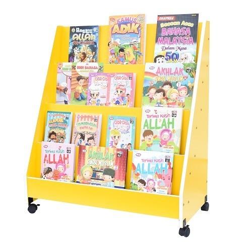 Economy Single-sided Bookshelf - Yellow - Kidcited Learning Store
