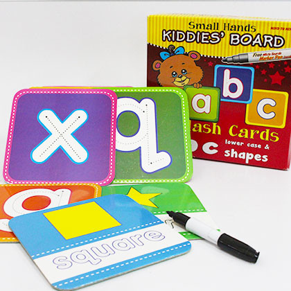 Kiddies' Board  Mini Flash Cards abc Lower Case & Shapes - Kidcited Learning Store