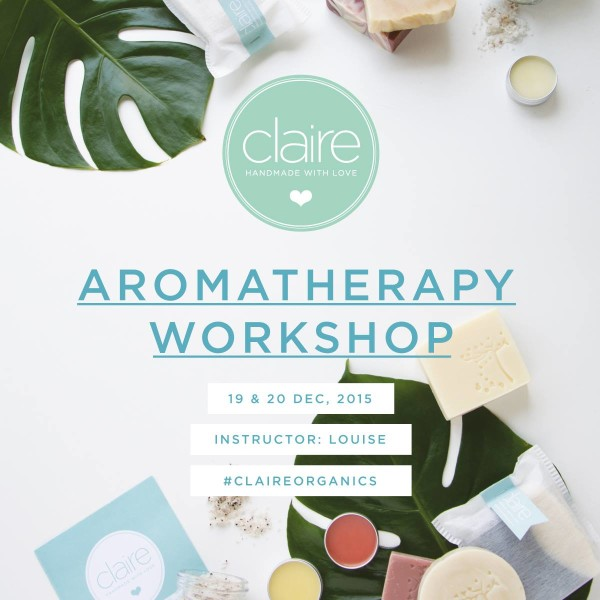 AROMATHERAPY WORKSHOP - 20th DEC - Clothes Buffet 2015