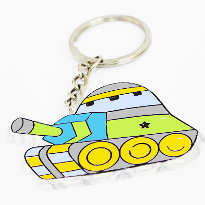 Suncatcher Keychain - Tank - Kidcited Learning Store