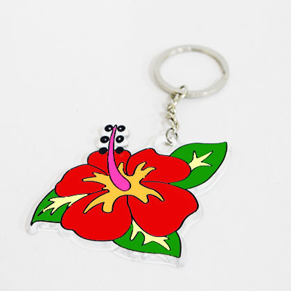 Suncatcher Keychain - Vibrant Hibiscus - Kidcited Learning Store