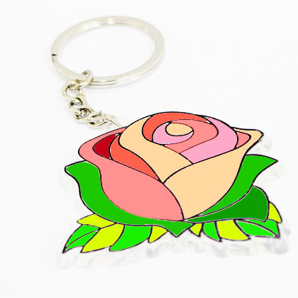 Suncatcher Keychain - Blooming Rose - Kidcited Learning Store