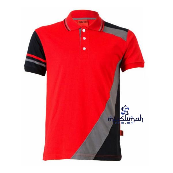 Tshirt Muslim PL111 Red - Muslimah.com.my - Muslimah Online Shopping