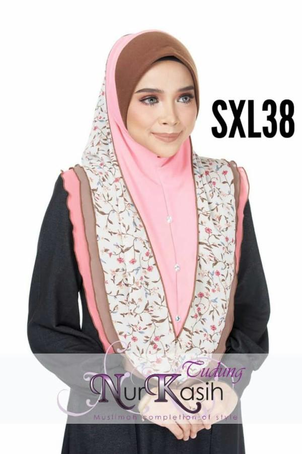NURKASIH SHIBA  Saiz XL Peach pink - Zahusna