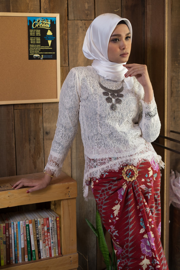 Fishtail Lace Cream (Tops Only) - Haura Wear