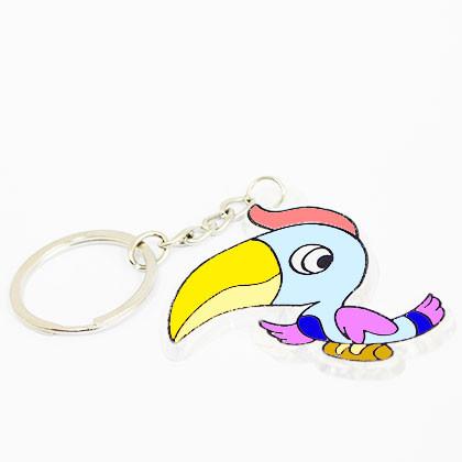 Suncatcher Keychain - Beautiful Hornbill - Kidcited Learning Store