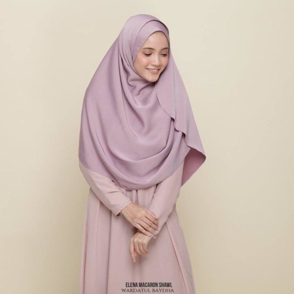 ELENA BASIC SHAWL - Wardatul Baydha Hijab