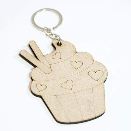 Wooden Keychain Cupcakes - Kidcited Learning Store