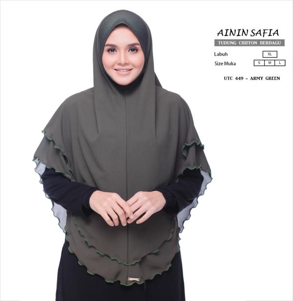 D'Mahligai Ainin Safia Army Green - Zahusna