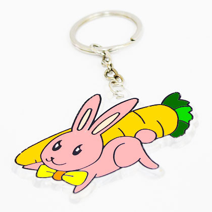Suncatcher Keychain - Fluffy Bunny - Kidcited Learning Store