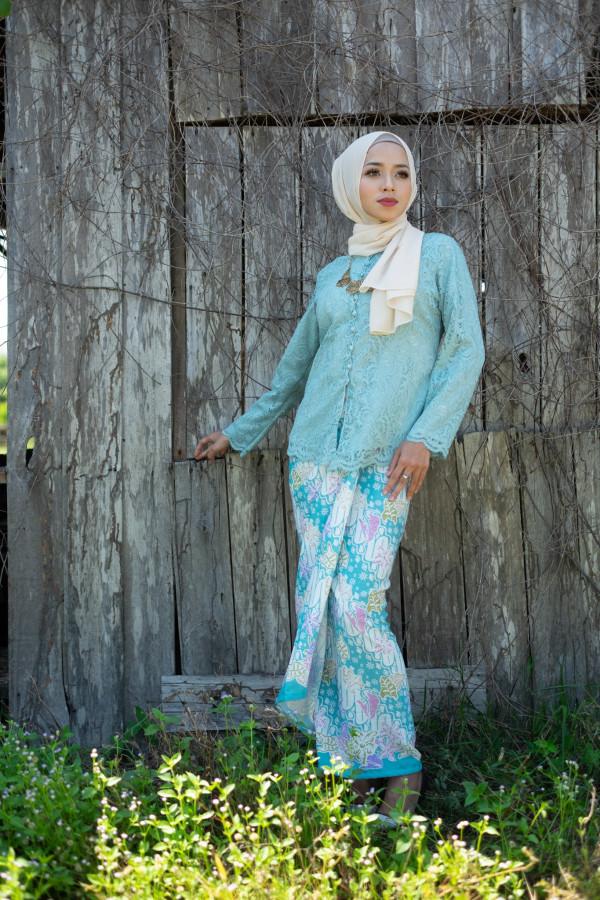 Nirmala Lace Soft Blue (Tops Only) - Haura Wear