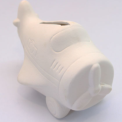 Ceramic Coin Bank (S) - Aeroplane - Kidcited Learning Store