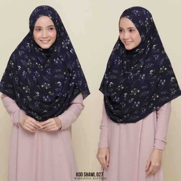 WIDE SHAWL BUCU DAN BULAT - Wardatul Baydha Hijab