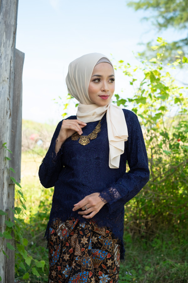 Fishtail Lace Dark Blue (Tops Only) - Haura Wear