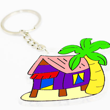 Suncatcher Keychain - Breezy Kampung House - Kidcited Learning Store