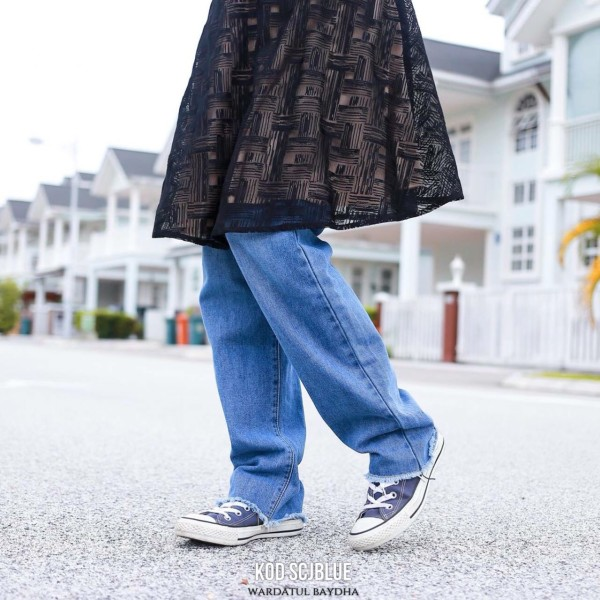 CHLOE STRAIGHT CUT JEANS  - Wardatul Baydha Hijab