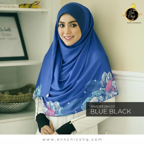 ANN CHICK KHADEEJA 2.0 Blue Black L - Zahusna