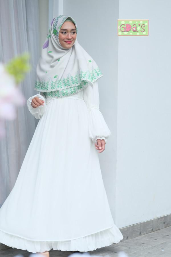 AYUNA DRESS BROKEN WHITE - GDa'S by Ghaida Tsurayya