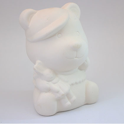 Ceramic coin bank (L) - Bear - Kidcited Learning Store