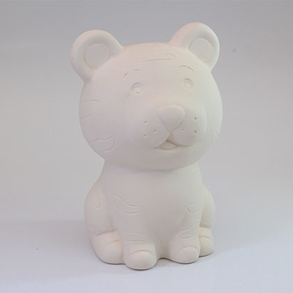 Ceramic Coin bank (L) - Tiger  - Kidcited Learning Store