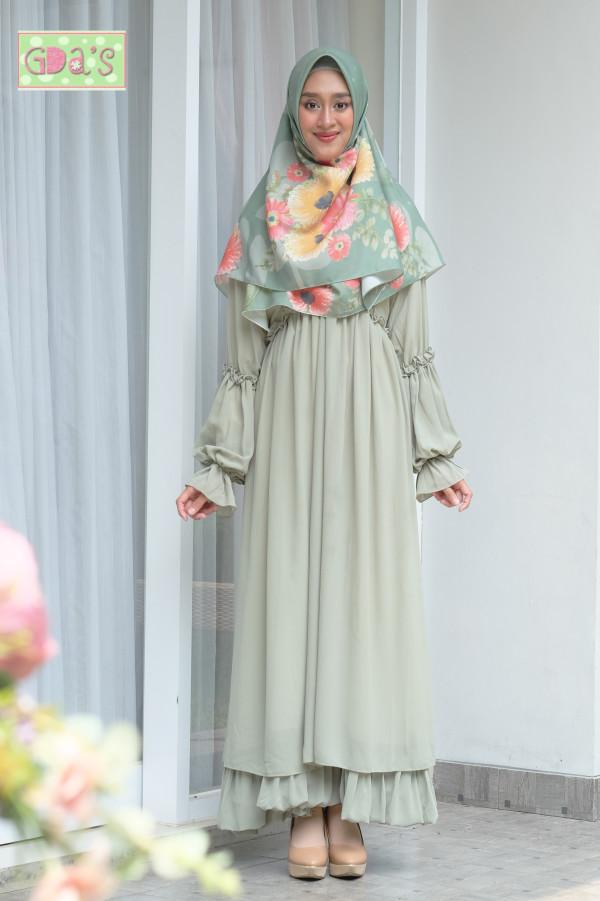 AYUNA DRESS OLIVE - GDa'S by Ghaida Tsurayya
