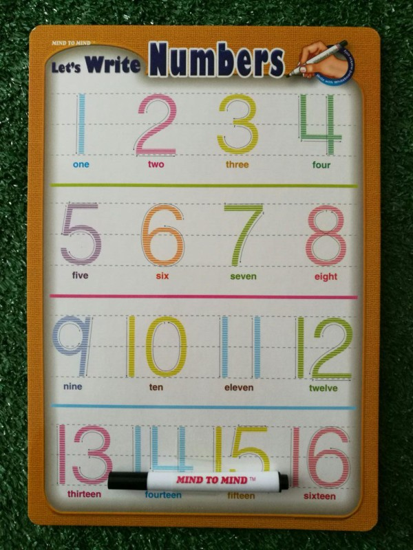 Let's Write 123 Mini Board (Numbers) - Kidcited Learning Store