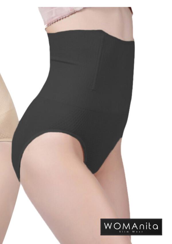 High Waist Slimming Panty (Black) 3XL  - WOMAnita Slimwear