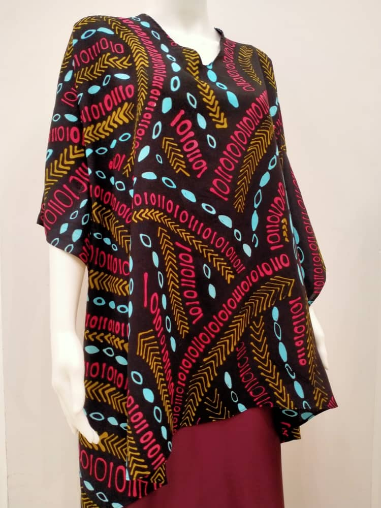 Ladies Cotton Binary Kaftan - Free Size