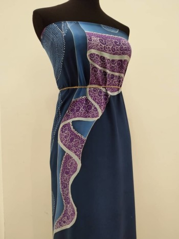 Che Siti Wan Kembang (Series II) - Dark Blue Fabric 2.5M