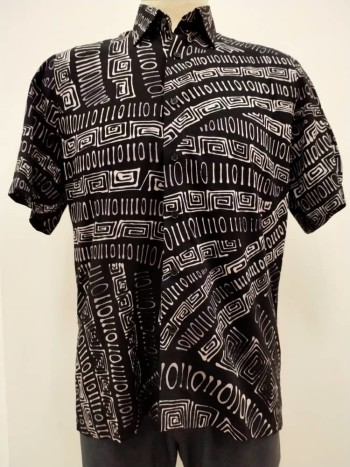 Mens Cotton Binary Short Sleeves - M