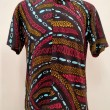 Mens Cotton Binary Short Sleeves - L - BUJINS Batik