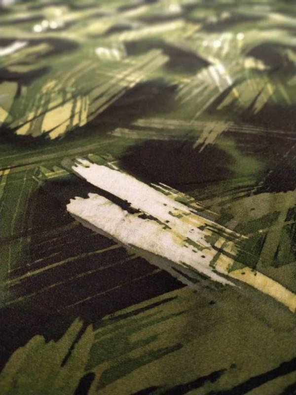 Cotton Batik Brush Emerald Green 05 Fabric - 2.45M - BUJINS Batik