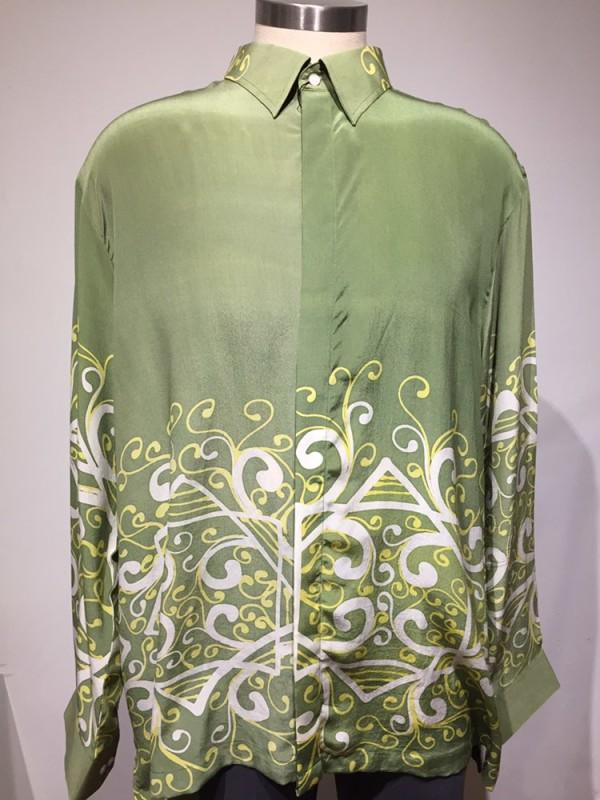 Soft Green Signature (2XL) - BUJINS Batik