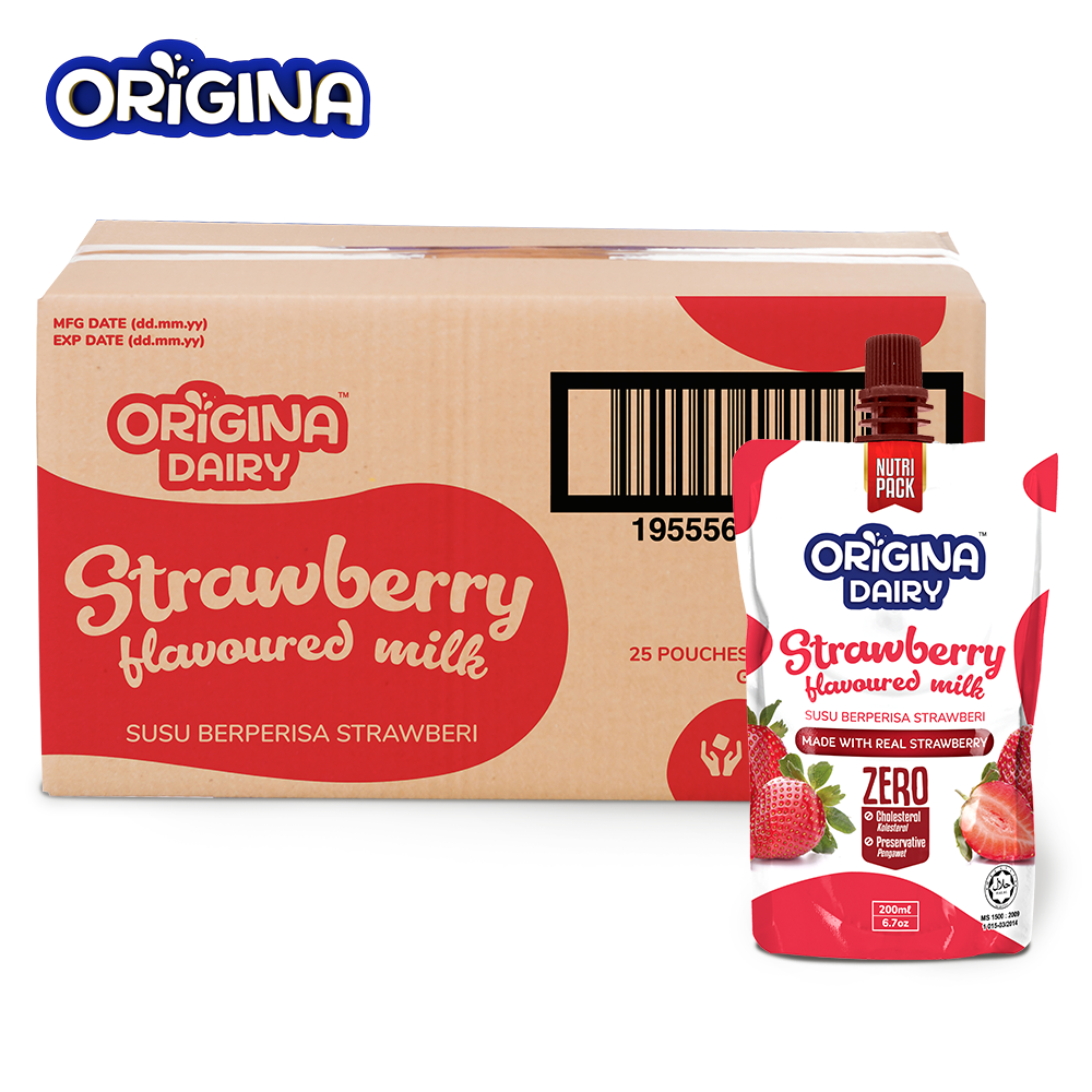 ORIGINA STRAWBERRY FLAVOURED MILK 200ML