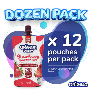 ORIGINA STRAWBERRY FLAVOURED MILK 200ml (12 pcs/ packs)