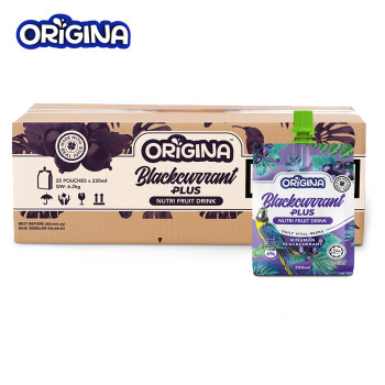 ORIGINA BLACKCURRANT JUICE 220ML (25 PCS/CTN)