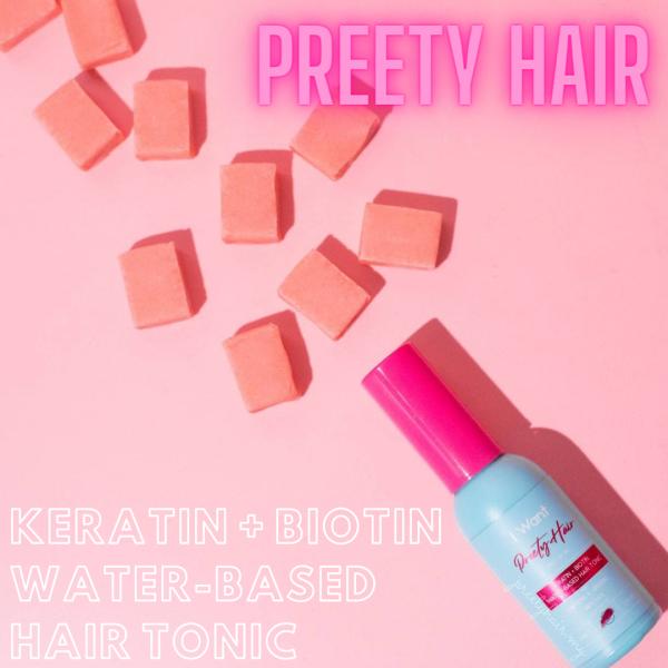 Preety Hair Keratin + Biotin Water-Based Hair Tonic - preetyhair.my