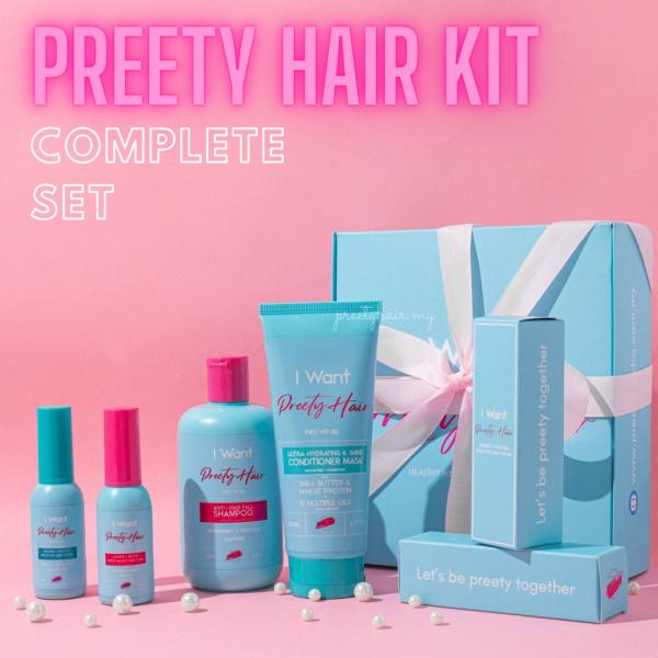 PREETY HAIR KIT COMPLETE SET - preetyhair.my
