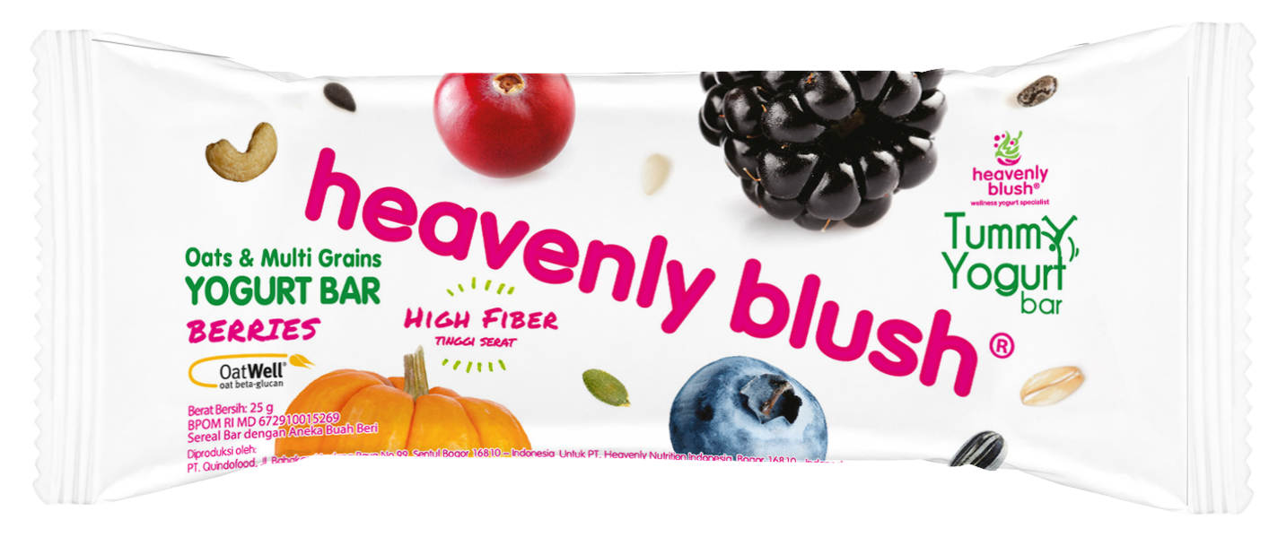 Heavenly Blush Tummy Yogurt Bar Berries